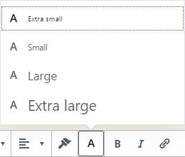 RichText Extension ( Font Size )