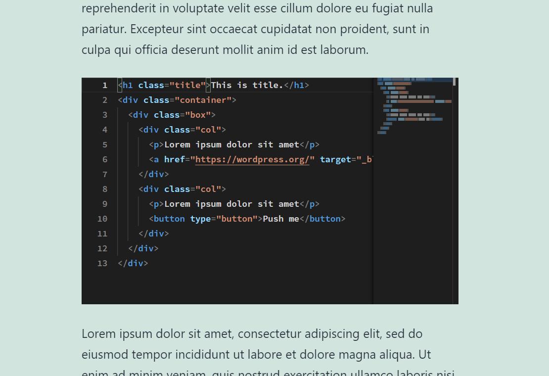 Custom HTML Block Extension